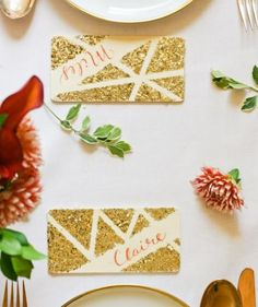 From gilded and fanciful to cute and practical, we've put together a collection of pretty place cards to fit every style.