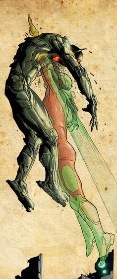 Vision and Ultron.  Artist Unknown