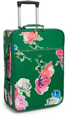 to travel in style with this pretty green and floral Kate Spade suit case.Ready to travel in style with this pretty green and floral Kate Spade suit case. Carry On Suitcase, Carry On Luggage, Travel Luggage, Travel Bags, Luggage Sets, Luggage Cover, Glasgow, Edinburgh, Aberdeen