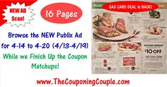 It's Sunday and that means we will posting the NEW Publix Ad with Coupon Matchups for 4/14 to 4/20 (4/13-4/19) a little later this evening!!!! This week I thought I will give you something to keep you busy while you are waiting on us to post it!!!! Now you can BROWSE all 16 pages of the actual Ad while you are waiting on us to FINISH typing the list and matching the coupons!  PLEASE HELP BY LEAVING a  COMMENT BELOW letting us know if you like the Ad Scan! And we would LOVE