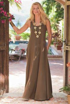 Santiago Dress - Womens Maxi Dress, Flattering Maxi Dress | Soft Surroundings