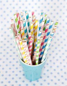 Make my Day kids - exclusieve kinderfeestjes - papieren rietjes