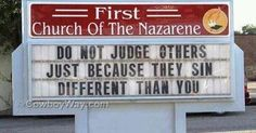 If We're Judging.....We're Not Loving