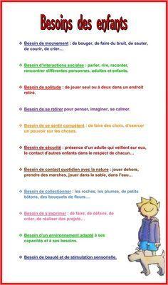 Besoins des enfants - Education Bienveillante Montessori Maternage Astuce…
