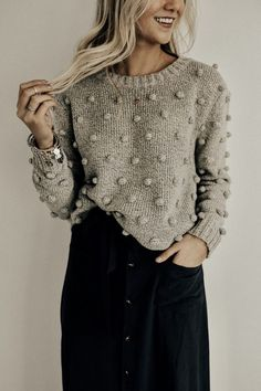 bobble crewneck sweater