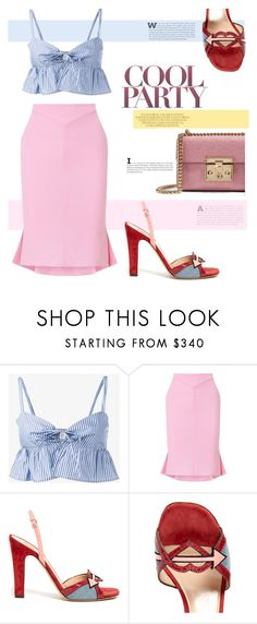 """Easter Happy"" by streetglamour ❤ liked on Polyvore featuring Maryam Nassir Zadeh, Roland Mouret, Valentino and Gucci"