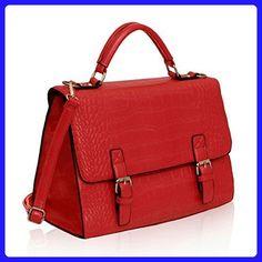 Womens Satchel Bags Mens Messenger Faux Lather Ladies Handbags Cross body New - Top handle bags (*Amazon Partner-Link)
