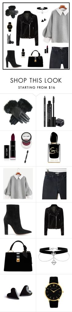 """Untitled #140"" by angel-melek ❤ liked on Polyvore featuring Rodial, Giorgio Armani, RE/DONE, Gianvito Rossi, Paige Denim and Miu Miu"
