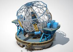 The proposed European Extremely Large Telescope (E-ELT) with a primary mirror meters in diameter. Cosmos, Astronomy Stars, Minimal Techno, Space Telescope, Space Travel, Galaxies, World, Building, Brazil