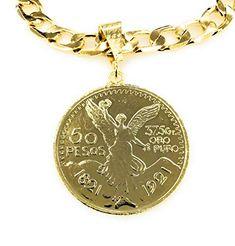 Merajjewelry Centenario Pendant with Chain Plating, Personalized Items, Chain, Amazon, Pendant, Gold, Warriors, Riding Habit, Pendants