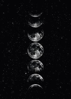 Moon Star Sky Poster Desenio