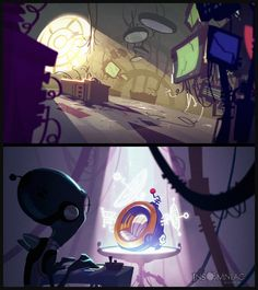 Croid Journals A selection of illustrations created for cinematics throughout Ratchet and Clank: All 4 One
