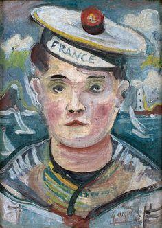 Autorretrato de Guignard como marinheiro, de 1933, óleo sobre papelão, 22 x 16 cm