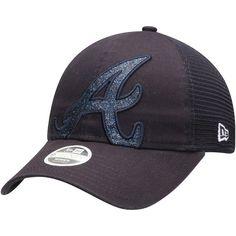 huge discount 32645 376c2 Women s Atlanta Braves New Era Navy Shined Up Trucker 9TWENTY Adjustable Hat,  Your Price   23.99
