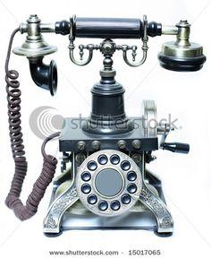 "vintage phone in the European ""Eiffel"" style. Just awesome! Telephone Booth, Vintage Telephone, Vintage Vibes, Retro Vintage, Antique Phone, Vintage Appliances, Talking On The Phone, Vintage Phones, Home Phone"