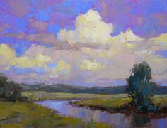 ☼ Painterly Landscape Escape ☼ landscape painting by David Mensing