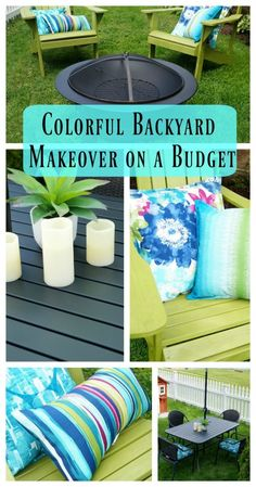 Check out our beautiful and colorful Budget Backyard Makeover @Lowe's MyOutdoorOasis #AD