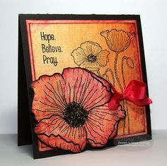 Sweet 'n Sassy stamp sets used: God is Bigger, Poppy Background, Precious Poppies.