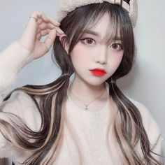 Image may contain: 1 person, closeup Korean Beauty Girls, Pretty Korean Girls, Cute Korean Girl, Cute Asian Girls, Beautiful Asian Girls, Asian Beauty, Ulzzang Girl Selca, Ulzzang Hair, Ulzzang Korean Girl