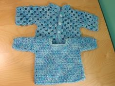 ▶ Cochet Baby Sweater Part 2. - YouTube