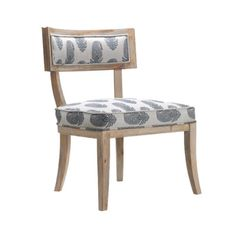 Farrah Side Chair - This paisley inspired Fantail Side Chair can make the perfect addition to your home. Its light wooden finish adds a summer vibe that will always brighten up a room. - Found at myWebRoom.com