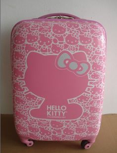 Free shipping Hello Kitty Trolley Travel Luggage Pink hello kitty Tote suitcase suitcase for travel