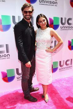 Ivan Sanchez y Ana Brenda Contreras en el Up Front de Univision.