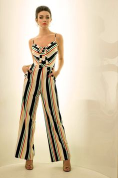 Let This Coming Summer Be The Season You Embrace The Daytime Jumpsuit With The Glorious Voodoo Vixen Zarah Striped Jumpsuit