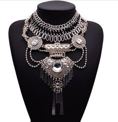 Greek Statements: Wow! This necklace is unique and truly has so much beautiful detail to enjoy everywhere you look. The best part is, it's not annoying to wear because it's weight doesn't add stress on your shoulders.