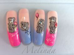 Me to you tatty bears by Melinda - Nail Art Gallery nailartgallery.nailsmag.com by Nails Magazine www.nailsmag.com #nailart