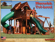 Charmant Another Ultimate Playset. Redwood Playsets For Kids Wooden Forts Maverick Swing  Set
