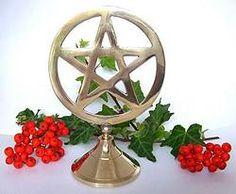 Brass Pentagram Stand 15.5cms tall