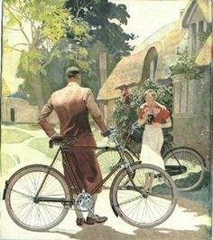 Raleigh Bicycles Ad in old England in the 1930's.