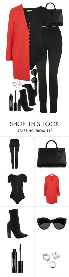"""""""Untitled #520"""" by lindsjayne ❤ liked on Polyvore featuring Topshop, Yves Saint Laurent, Michael Kors, Harris Wharf London, Steve Madden and Edward Bess"""