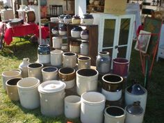 Antiques Festival- I would snatch up at least half a dozen of these for fermenting. antiqu festiv, place