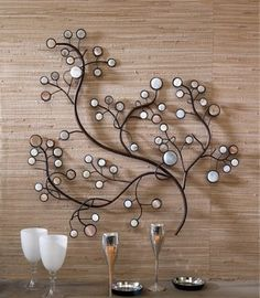 Modern Metal Wall Decor outdoor+metal+wall+art | outdoor metal wall decor grape vine