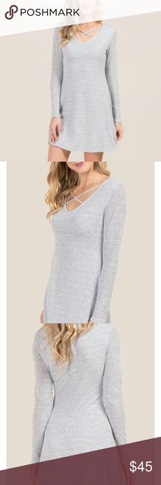NEW Marled Waffle Knit Dress NEW Marled Waffle Knit Dress. Francesca's Collections Dresses