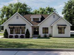 050H-0348: Ranch House Plan with Craftsman Charm