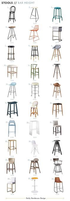 The Ultimate Counter and Bar Stool Roundup - Bar Height