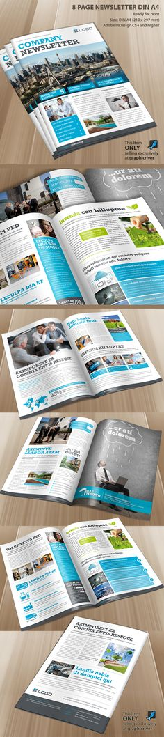 Company Newsletter by Paulnomade Paulnomade, via Behance