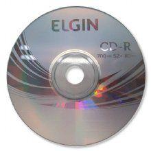 Cd-r 700mb 52x 80min elgin - Valor unitário de R$ 0,53 para pacote com 100 unidades