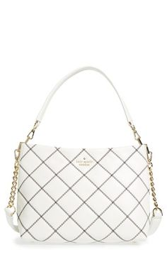 KATE SPADE NEW YORK 'Emerson Place - Small Ryley' Quilted Leather Shoulder Bag. #katespadenewyork #bags #shoulder bags #hand bags #leather #lining