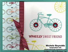 Handmade card using Stampin' Up! Cycle Celebration Set.