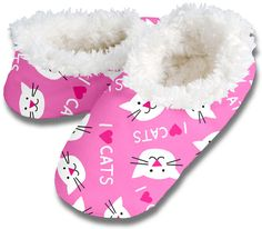 I heart cats slippers by Snoozies, $10.00