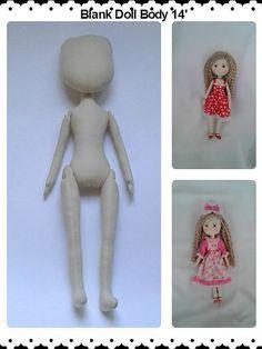 Blank Doll Body 14' by RuzannaDolls on Etsy