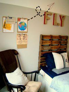 REVEAL! Vintage Airplane Bedroom