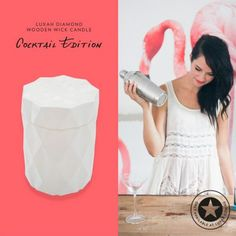 White Diamond Wooden Wick Candle | LUXAH EXCLUSIVE | Cocktail Edition | SHOP