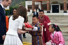 Fond farewells: The Duke and Duchess of Cambridge left Bhutan having become firm friends with their hosts, Bhutan's King Jigme Khesar Namgyel Wangchuck and his wife Queen Jetsun Pema