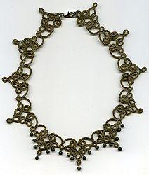 "Necklace, sets of - lace ""frivolite"":: A lace ""frivolite"" of Elena Ignatova, master of folk creation, Ukraine, Kharkov :: Jewellery knot shu..."