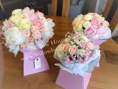 Waddesdon Manor, Bucks - The Five Arrows Hotel Wedding Venue - Beautiful romantic hand-tied bride and bridesmaid bouquet and flowergirl posy in tones of blush pink and cream - peony, rose and cymbidium orchid - simply stunning - created by Willow House Flowers Aylesbury Wedding Florist - www.willowhouseflowers.co.uk #springwedding #springweddingflowers  #waddesdonmanorthefivearrows #thefivearrowsweddingvenue #aylesburyweddingflorist #weddingflorist #waddesdonmanorfivearrows #peonywedding